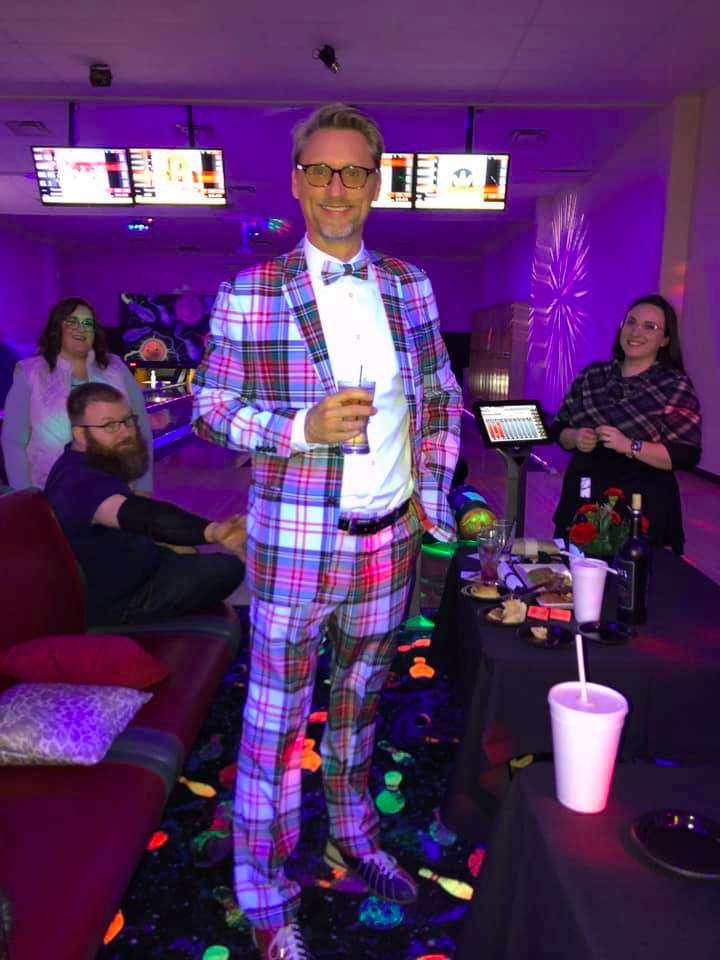 Dr. Johnston supporting 2020's Bowling with Bowties event held in Lapeer County.